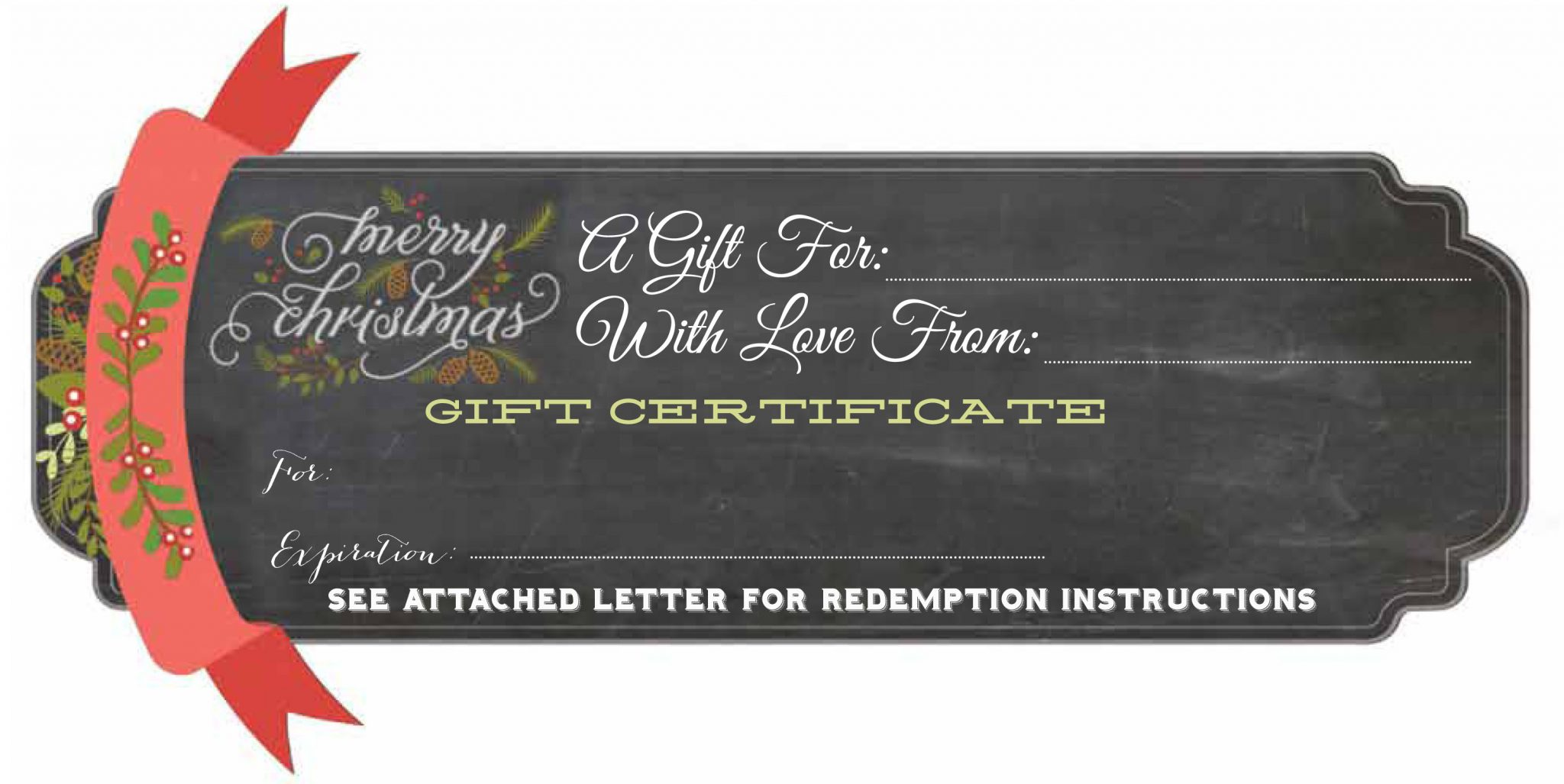 Christmas Gift Certificates Templates Gift Certificate Template – Fitness Gift Certificate Template