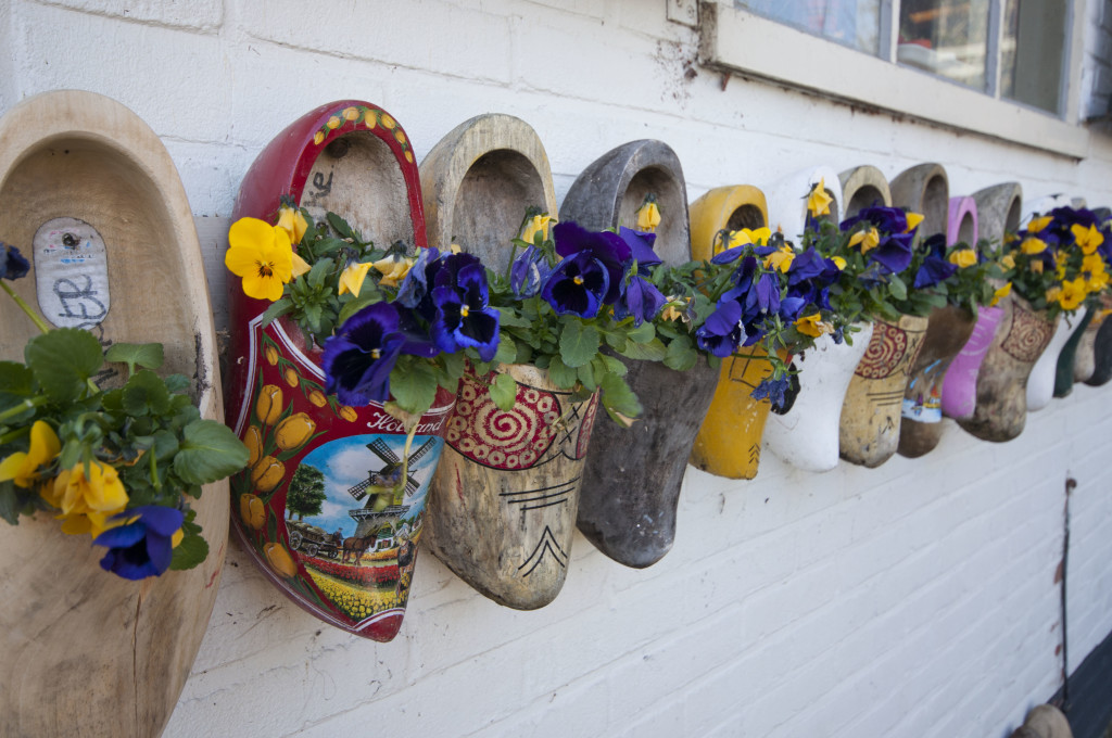 cute use of wooden shoes