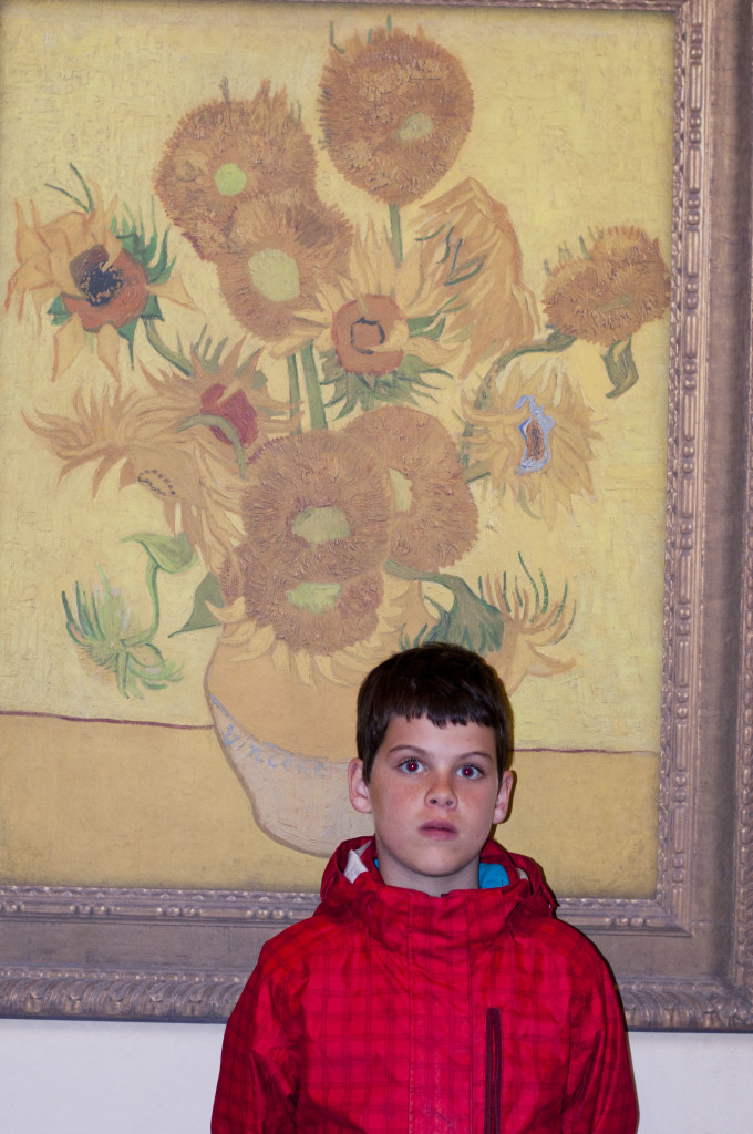 "this is the only photo we were allowed to take in the Van Gough museum- its a photo of ""Sunflowers"" which was out on loan to another museum. So we have recorded proof of the only painting there that we did NOT see- haha."