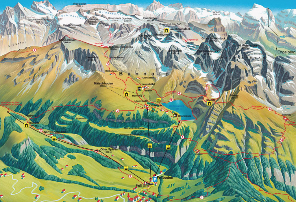 bannalp-hiking-map