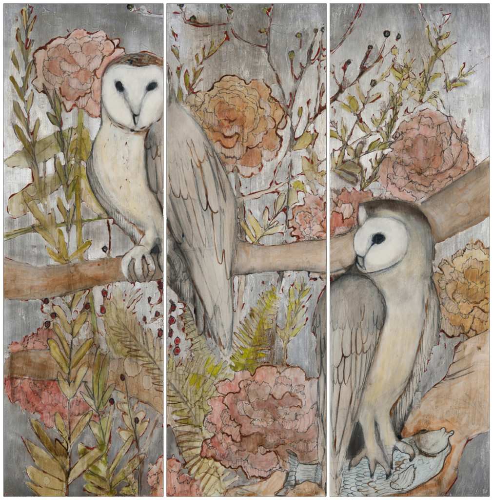 OwlTriptychwhite