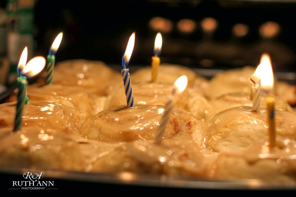 photo: Ruth ann photography ~ Axel requested sticky buns for his birthday dessert- I was lobbying hard for rice-crispy treats since they take me 5 hours less to make- but ohhh so good!
