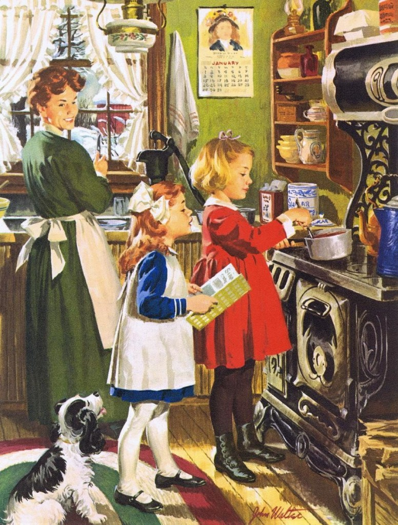 norman-rockwell-cooking-and-baking-painting