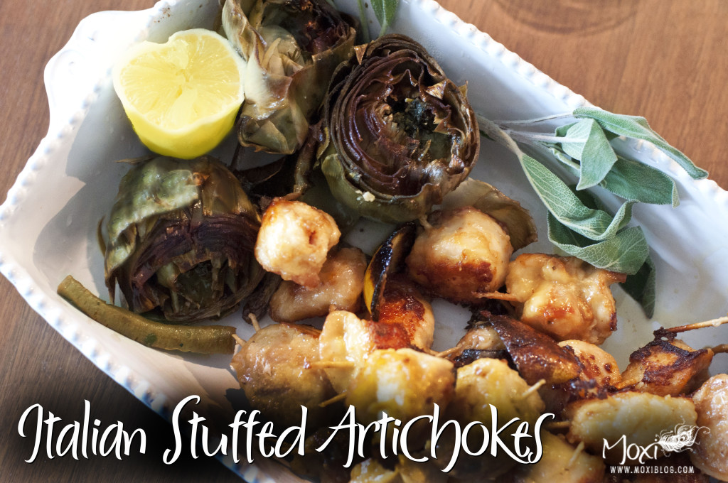 text artichokes lemon- meal