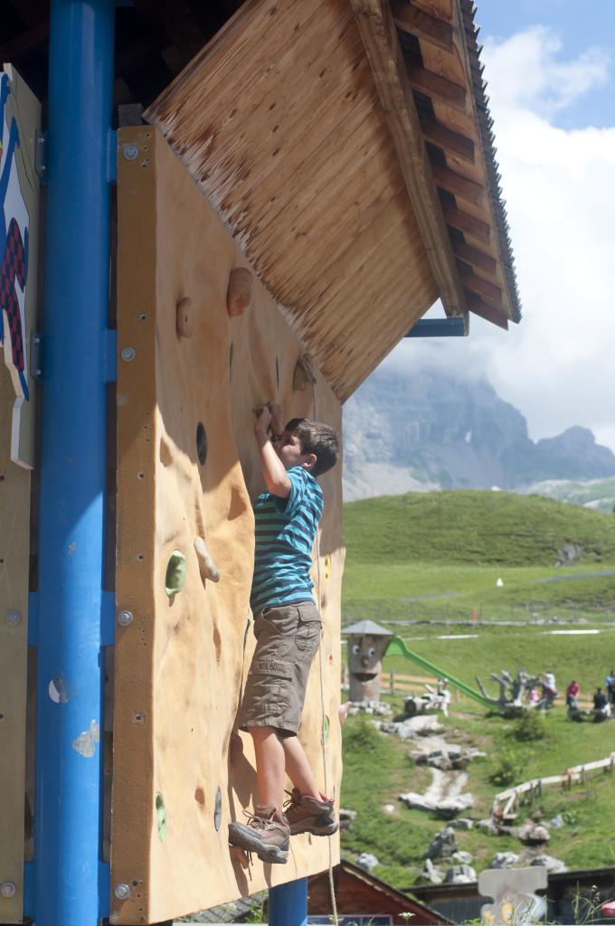 climbing wall at bruni