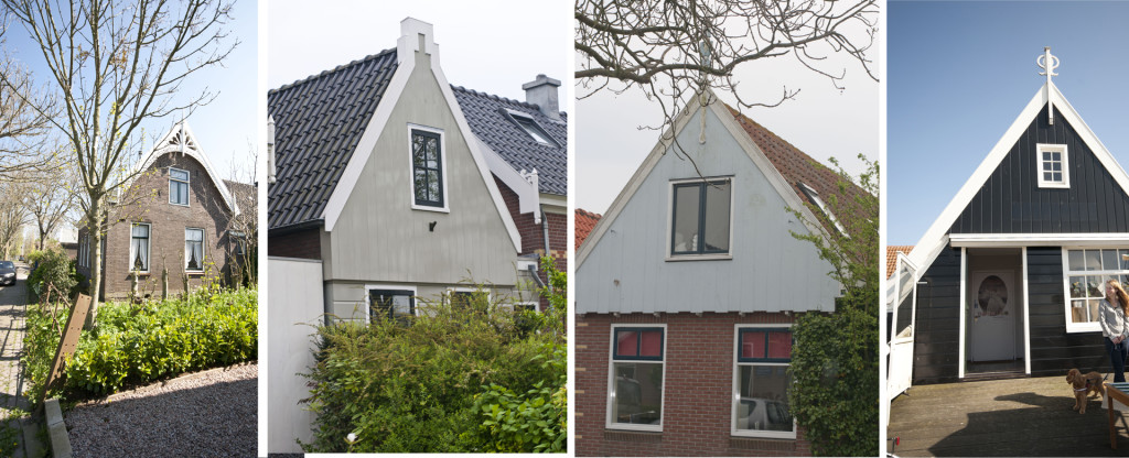 little houses with ornamental gabels