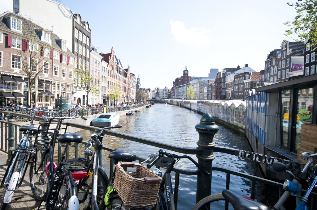 typical bikes and canals